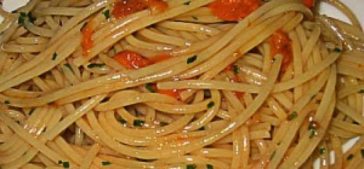 Spaghetti ai ricci di mare – variante