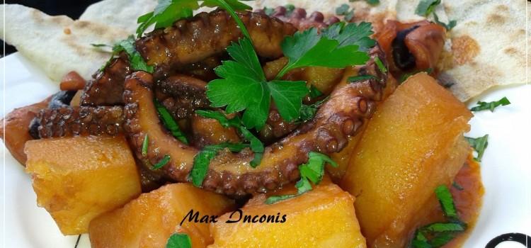 Ricetta Sarda: polpo con patate in rosso