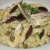 Gnocchetti Sardi con alici e olive.