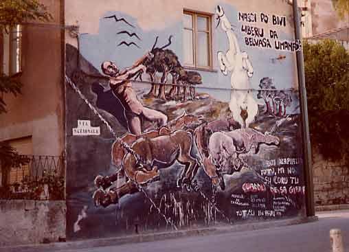 murales dedicato ai cavallini della giara
