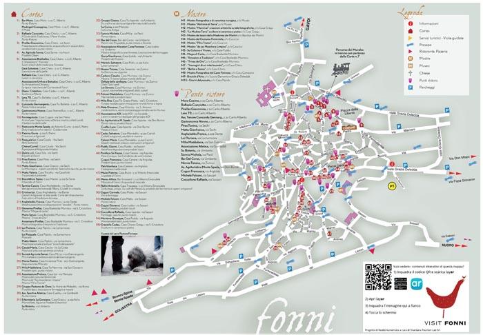 la mappa delle cortes di fonni