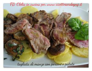 tagliata di manzo porcini e patate