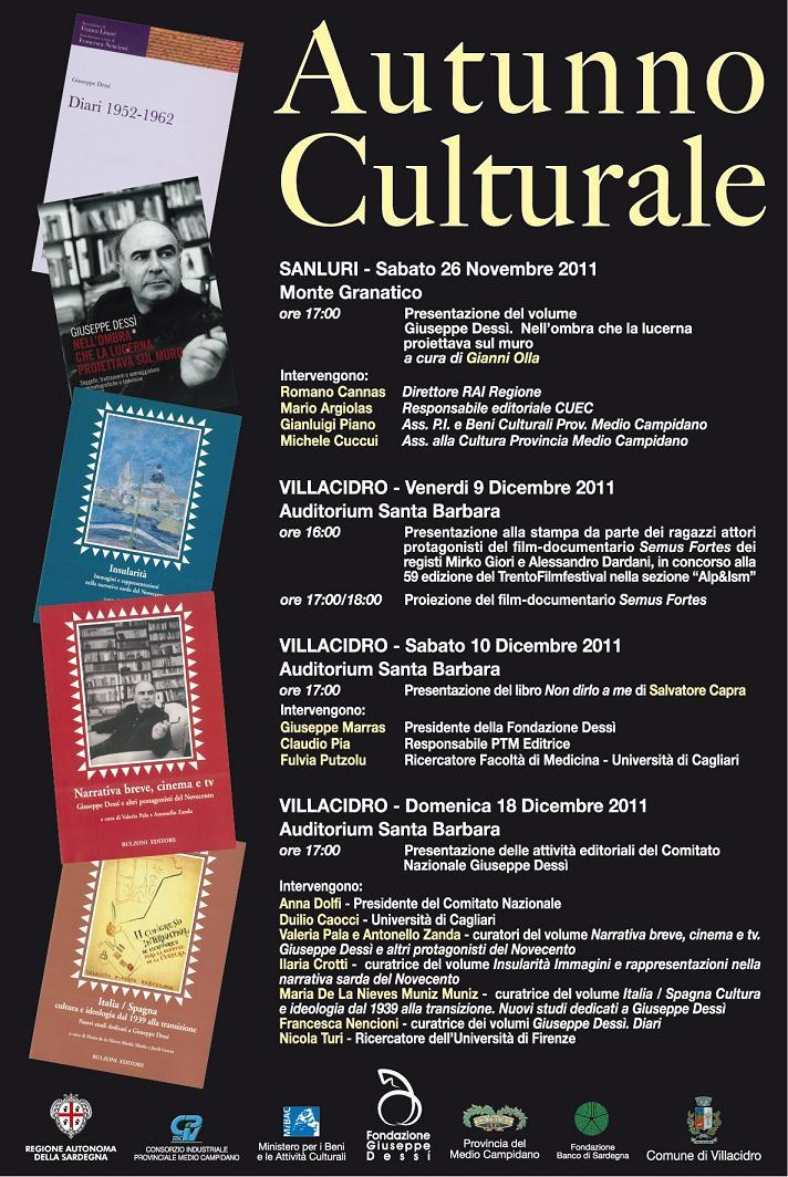 """""""Autunno Culturale"""" a Villacidro:"""