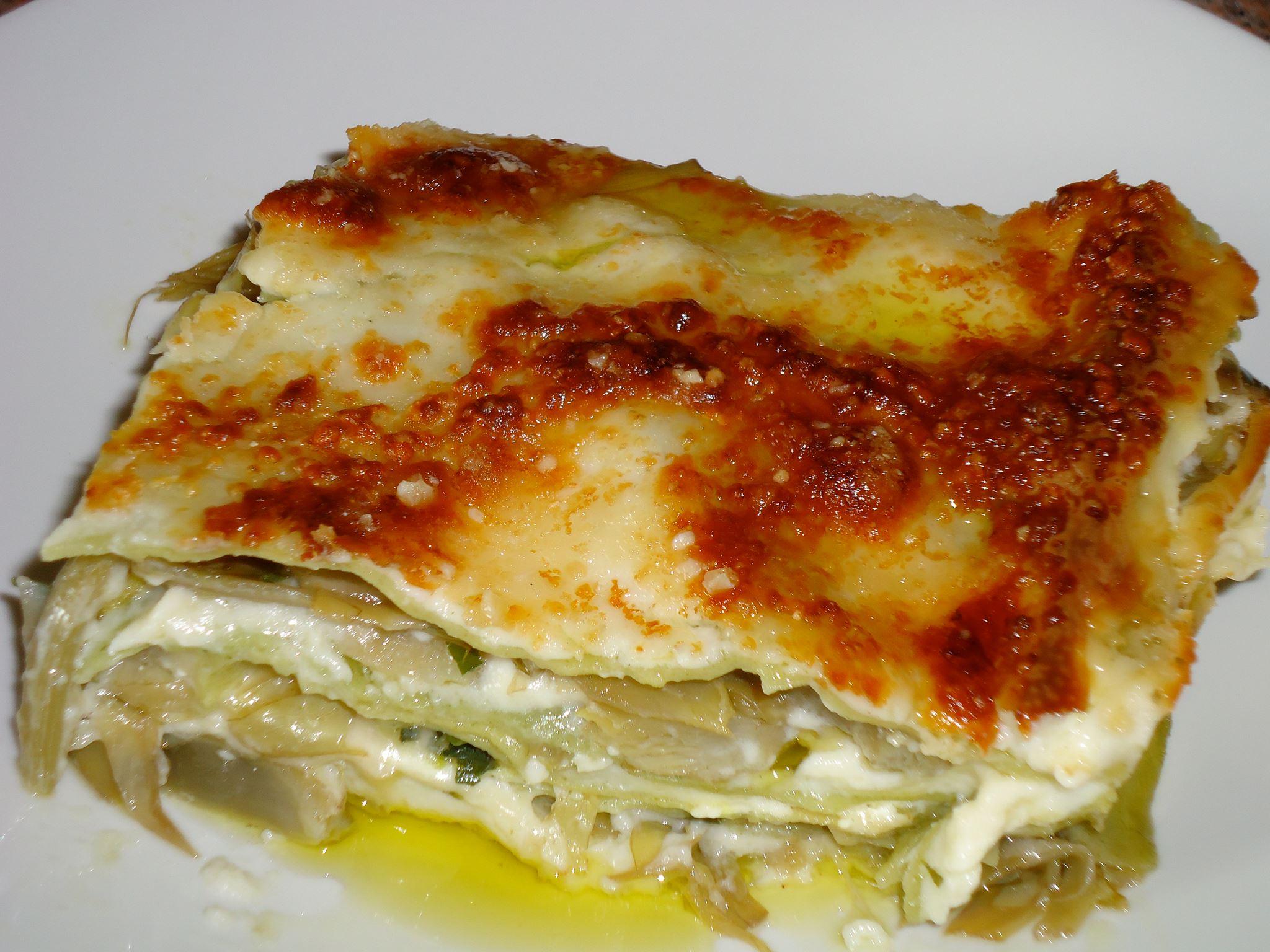 Lasagne in Sardegna? Si con i carciofi