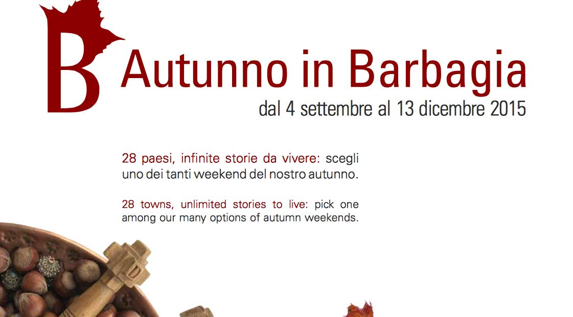 Il calendario di Autunno in Barbagia 2015